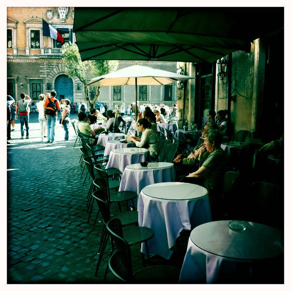 The Man at the Caffe Farnese