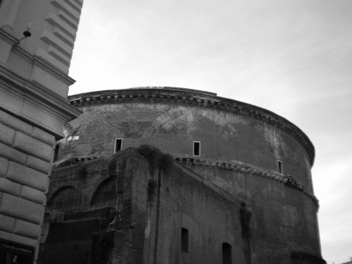 pantheon rome wall back