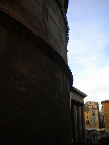 pantheon rome wall side