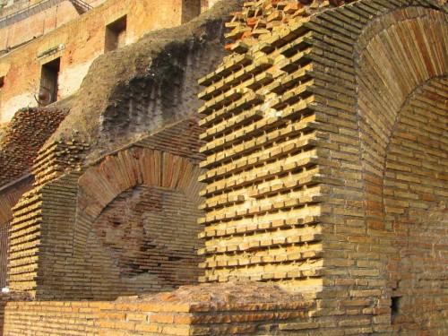 rome colosseum brick