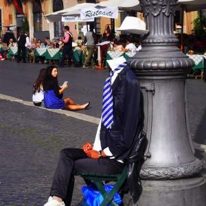Rome street performer